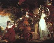 Sir Joshua Reynolds Ladies Adorning a Term of Hymen oil painting